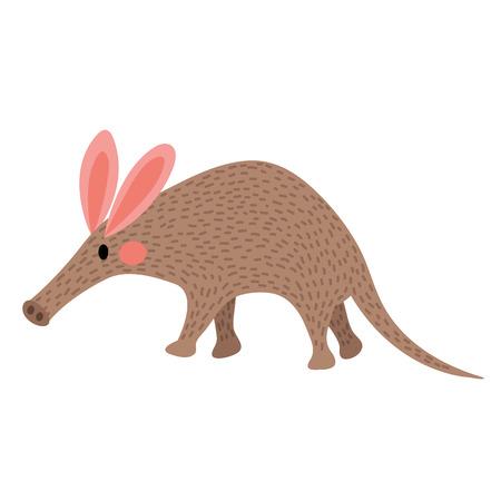 aardvark: Walking Aardvark animal cartoon character. Isolated on white background. illustration. Illustration
