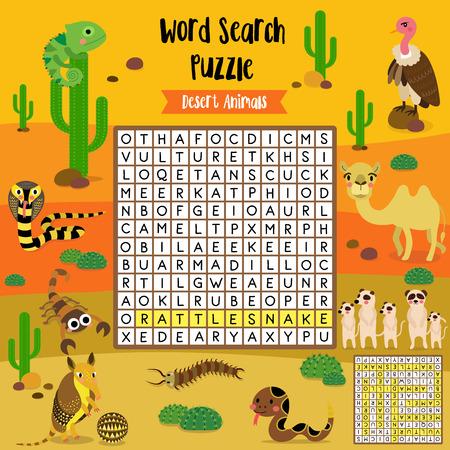 Wörter Suchen Puzzle Spiel Von Ozean Tiere Für Vorschule Kinder ...