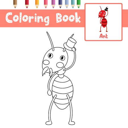 Dibujo Para Colorear Animales De Hormigas Negras Para Niños ...
