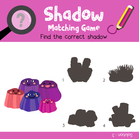 version: Shadow matching game of Barnacles animals for preschool kids activity worksheet colorful version. Vector Illustration. Illustration