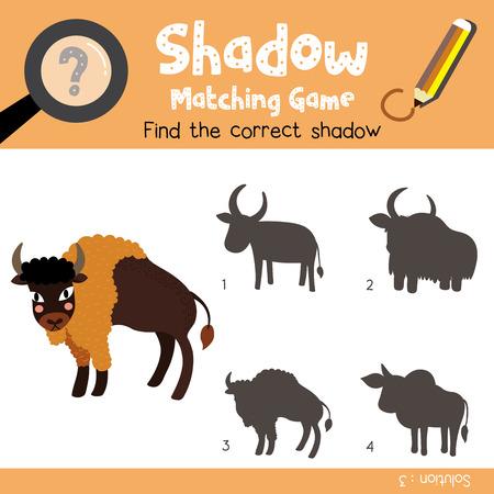 Shadow Matching-Spiel Von Sitting Pavian Tiere Für Vorschulkinder ...