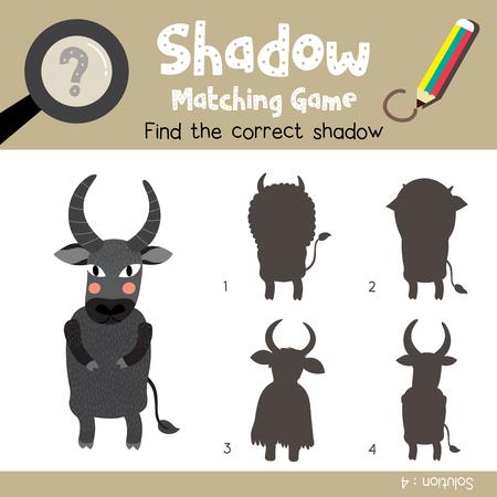 Shadow Matching-Spiel Von Mutter Und Kind Alpakas Tiere Für ...