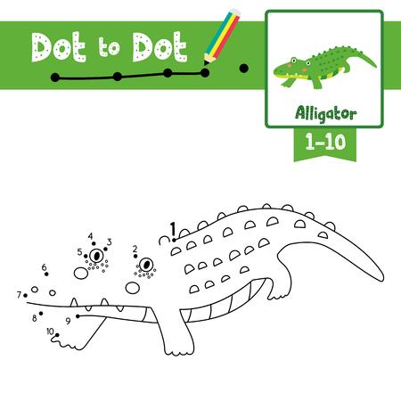 Juego Educativo Para Los Niños. Cómo Dibujar Cocodrilo Lindo De La ...