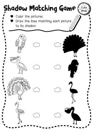 Shadow Matching Game Of Insect Bug Animals For Preschool Kids ...
