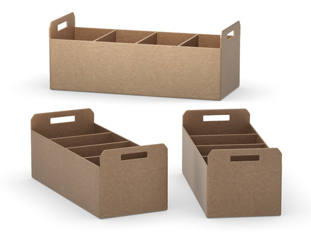 separators: paper document tray with separators Stock Photo