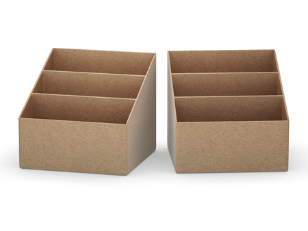 kraft paper: blank  kraft paper  holder box with clipping path