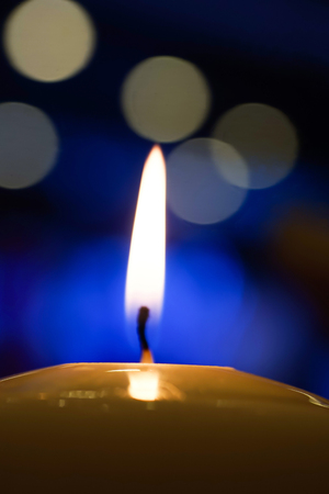 christian candle: Candle light at night with bokeh