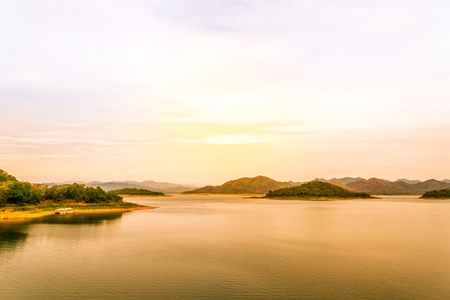 kaeng: Lake view at Kaeng Krachan National Park Thailand  Stock Photo