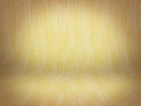 floorboard: Curved brown wooden background illustration.  Stock Photo