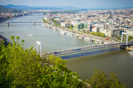 View of Budapest city and Danube river, Hungary
