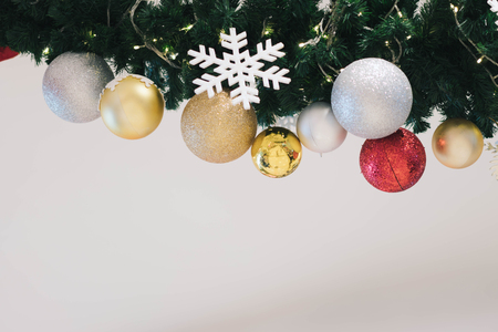 Christmas ornaments decoration with blank background