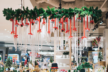 Beautiful interior decoration with Christmas ornaments Stok Fotoğraf