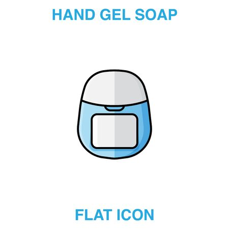 Hand Soap Dispenser, infection control concept. Soap to prevent colds, virus, Coronavirus, Antimicrobial germ kill foam, hand soap, hand gel bottle. flat icon design