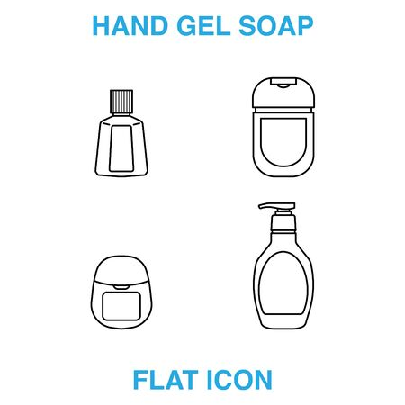 Hand Soap Dispenser, infection control concept. Soap to prevent colds, virus, Coronavirus, Antimicrobial germ kill foam, hand soap, hand gel bottle. flat icon design