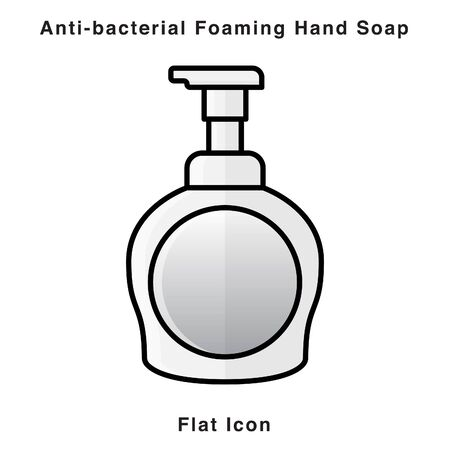 Anti-bacterial Foaming Hand Soap. Hand sanitizer. Alcohol-based hand rub. Rubbing alcohol. soap dispenser. Protection from germs such as coronavirus (Covid-19) icon design