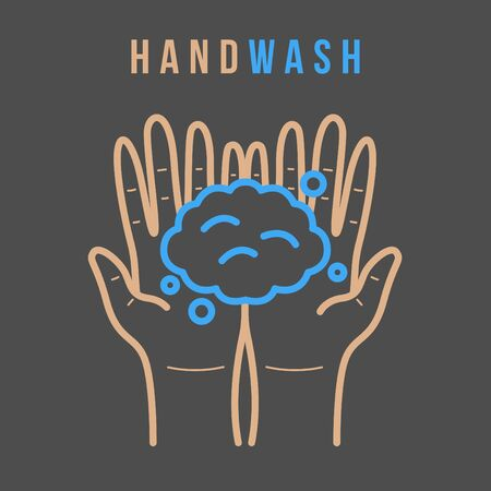 Hand Washing For Prevent Illness And Hygiene, Keep Your Healthy, Sanitary, Infection, Sickness, Healthy, Vector illustration of Handwashing. flat icon design