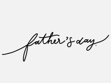 Father's day. Hand written lettering isolated on white background.Vector template for poster, social network, banner, cards. Çizim