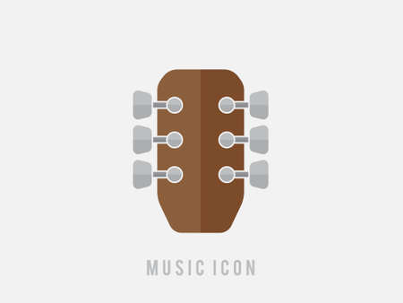 music, Guitar vector icon, music instrument symbol. Modern, simple flat vector illustration for web site or mobile app