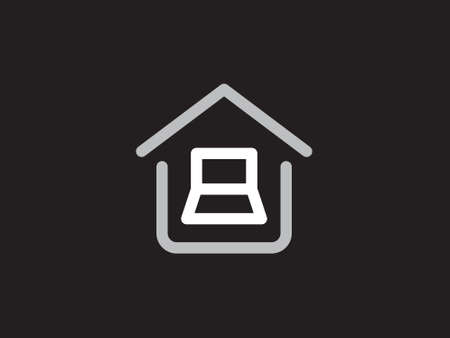 Work from home icon vector illustration. Social distancing vector to use for from home activities. Work logo. Social distancing icon. Illustration