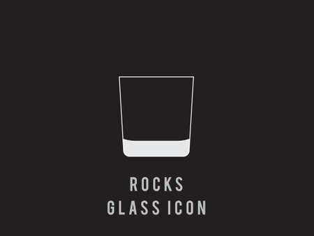 rocks Wine glass outline icon. Vector illustration. single high quality outline symbol for web design or mobile app. Wineglasses thin line signs for design logo, visit card, etc.