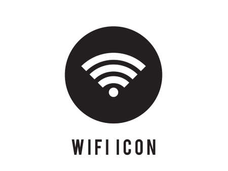 Wireless and wifi icons. Wireless Network Symbol wifi icon. Wireless and wifi vector. Black icon. On white blackground. sign for remote internet access. Podcast vector symbol.