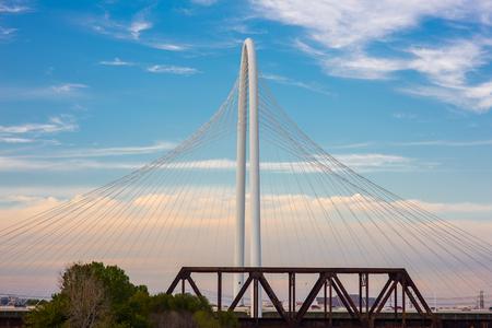 Margaret Hunt Hill Bridge  in daytime, Texas.