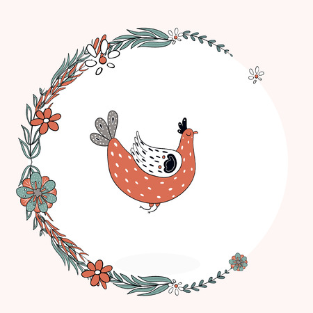 White bird in a frame.