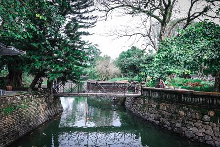 hue: Garden in Hue Imperial City Stock Photo