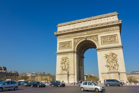 The Arc de Triomphe, Paris - France Stock Photo - 21738855