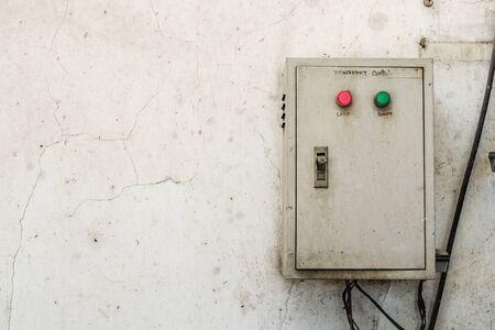 breaker: Breaker box on dirty wall