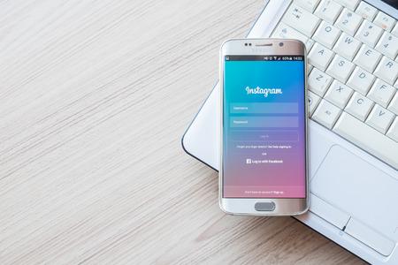 チェンマイ, タイ - 2016 年 2 月 1 日: スクリーン ショット サムスン銀河 s6 エッジを使用した Instagram アプリケーションです。Instagram は、世界で最大