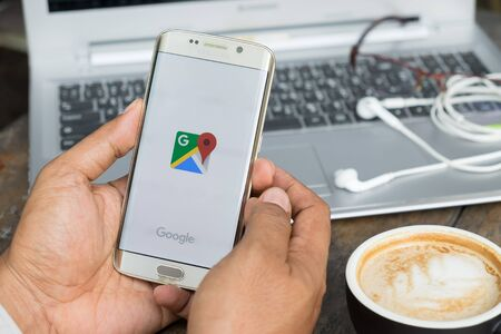 CHIANG MAI,THAILAND - MAR 16: Google Maps for Mobile 2.0 was released. Its location service can work with or without a GPS receiver. Build for Android and iOS. Editoriali
