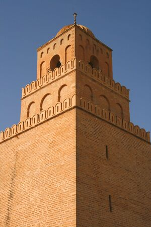 kairouan: Great mosque in Kairouan, Tunisia
