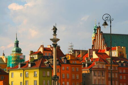 tenement: Tenements in old town in Warsaw, Poland