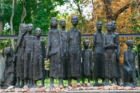 Monument commemorating Jewish tragedy during Holocaust, Berlin photo