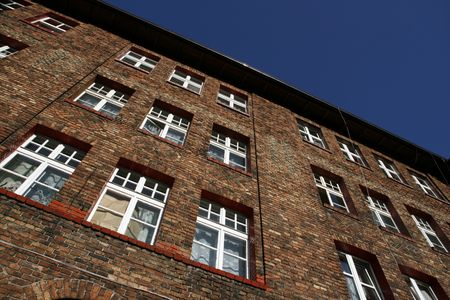 tenement: Old tenement in Nikiszowiec (Katowice) - historic mining estate in Poland