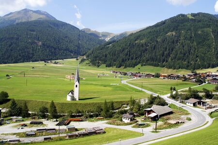 hohe tauern: Kals - beautiful Alpine town in Hohe Tauern range in Austria