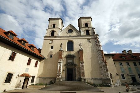 benedictine: Iglesia de San Pedro y San Pablo de Abad�a Benedictino en Tyniec, Cracovia. Famoso hito polaco