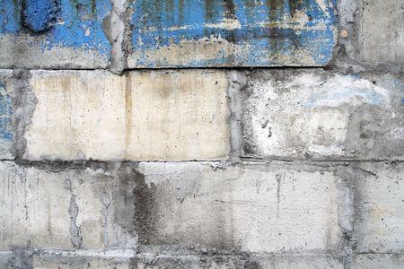 tatty: Shabby tatty brick wall. Abstract background.