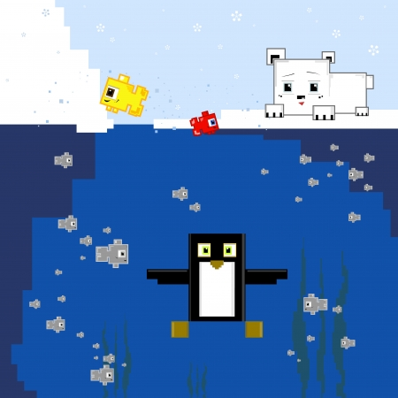 funy: sea life water funy cute fish penguin polar bear