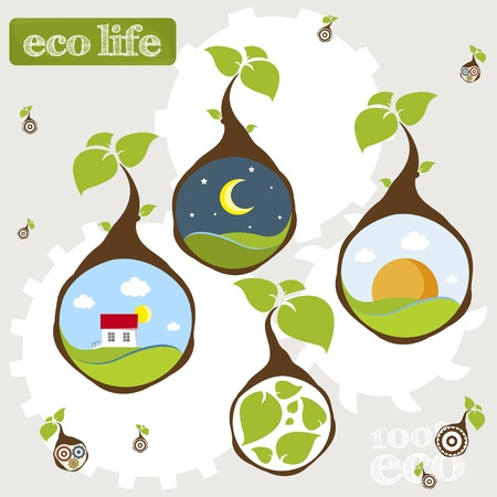 eco life earth plant Vector