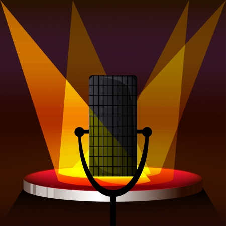 stage microphone lights  Vector
