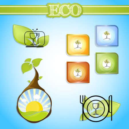eco life signs vector Vector
