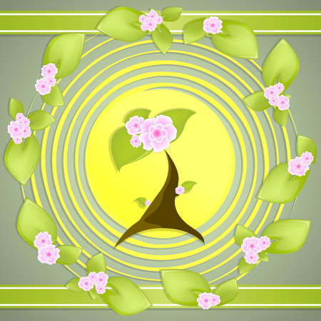 flower nature green leaves background vector Stock Vector - 20922010