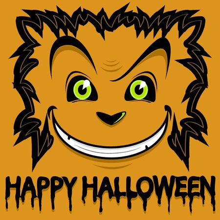 halloween monster background vector Vector