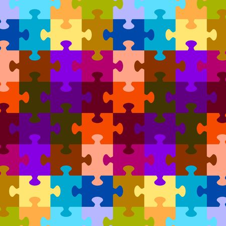 puzzle game color background vector Vector