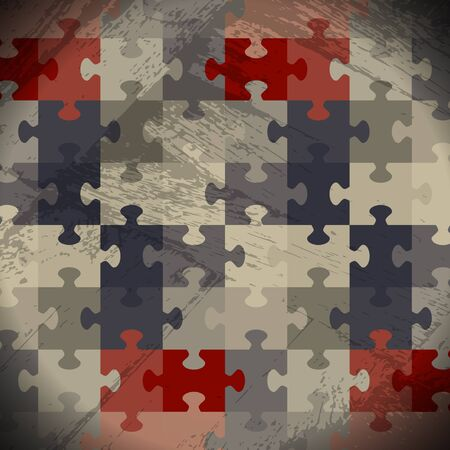 puzzle game grunge background vector