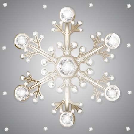 jewelry diamonds winter snowflakes Vector