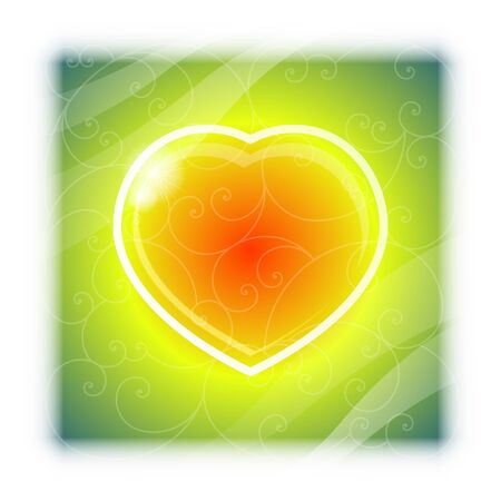 valentine's: love heart Valentine s Day background vector Illustration