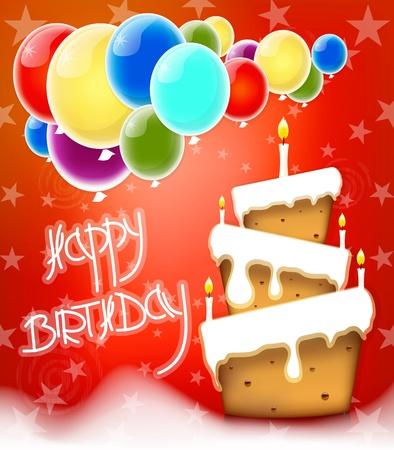 Happy Birthday cake background vector Vector